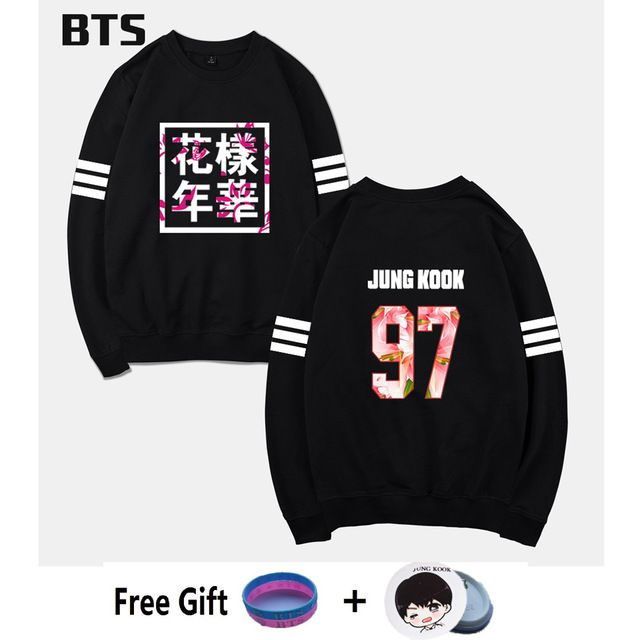 BTS Bangtan Boys Kpop Tracksuit Loose Hoodie Sweatshirt Casual Wings Hipster Brand Fashion Comfortable Korean Sweatshirt Women #Brand #BTS #sweaters #women_clothing #stylish_dresses #style #fashion