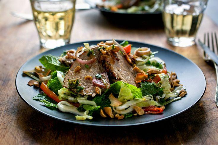pork tenderloin thai salad