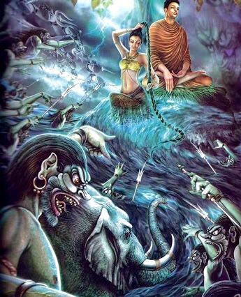 Lord Buddha defesa Mara