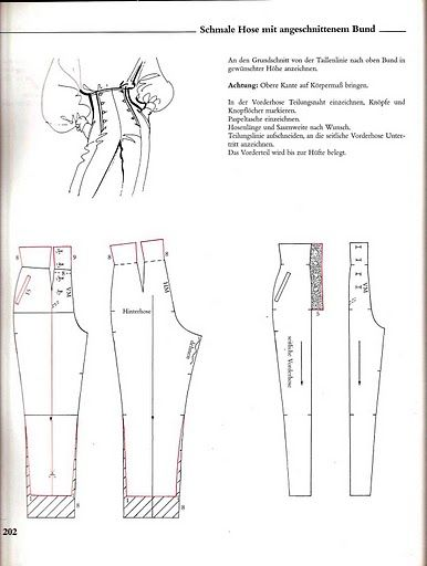 Systemschnitt_1 - high waisted pant with double 'breast' buttons (trousers)