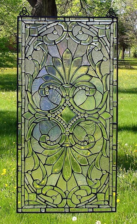 Divine Opulence Window - Elegant style, loaded with bevels, and stunning with iridescence!