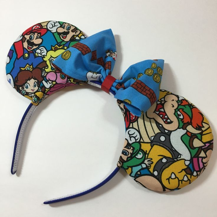 Mario Bros Group Mouse Ears with Bow - Mad Ears - MADE TO ORDER by mdhatters on Etsy https://www.etsy.com/listing/279300284/mario-bros-group-mouse-ears-with-bow-mad
