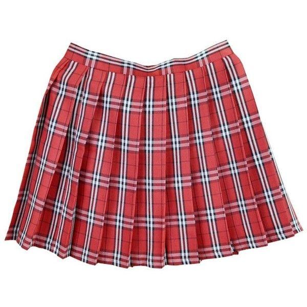 Women School Uniforms plaid Pleated Mini Skirt (19 AUD) ❤ liked on Polyvore featuring skirts, mini skirts, plaid pleated skirts, red plaid skirt, plaid miniskirts and red pleated skirt
