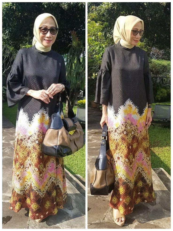 Abaya jumputan palembang By Sekar Satari  Kebaya  Batik