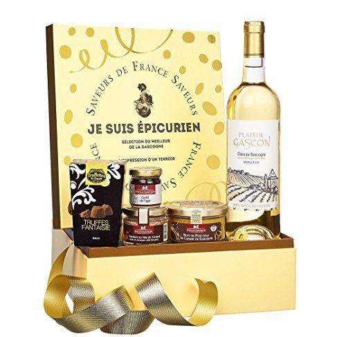 Ducs de Gascogne – «Je suis épicurien» – comprend 5 produits classiques pour les fêtes – spécial cadeau de Noël: Comprend un bloc de foie…
