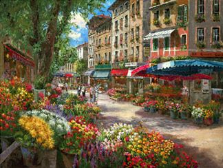 "The Art of Sam Park, ""Paris Flower Market"""