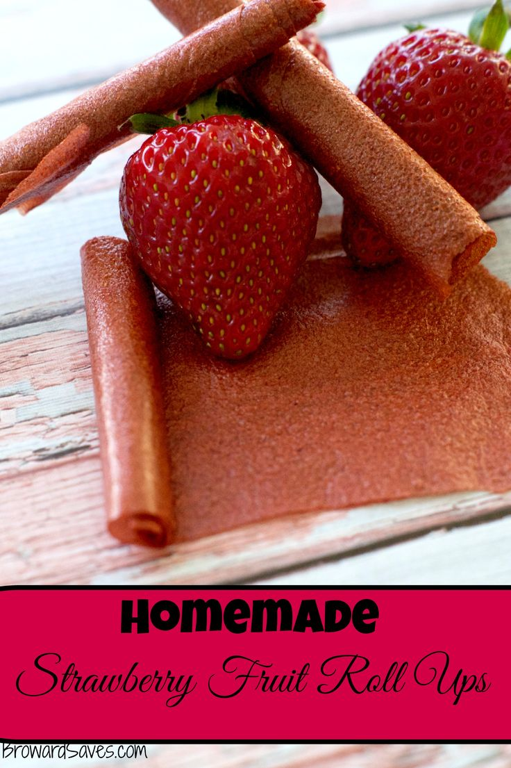 Homemade Strawberry Fruit Roll Ups Recipe – An Healthy #Lunchbox Snack! Only 1 ingredient and so easy to make! #recipes