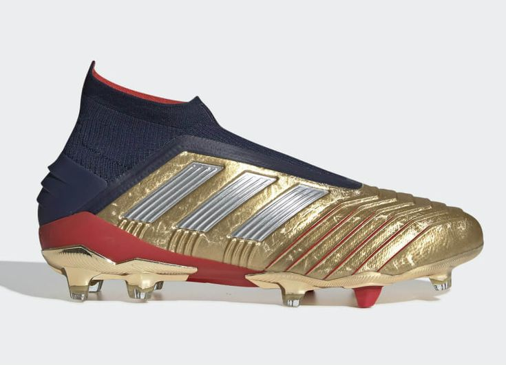 Adidas Predator 19 Firm Ground Zidane Beckham Boots Gold Met Silver Met Collegiate Navy Adidasfo Predator Football Boots Football Boots Adidas Predator