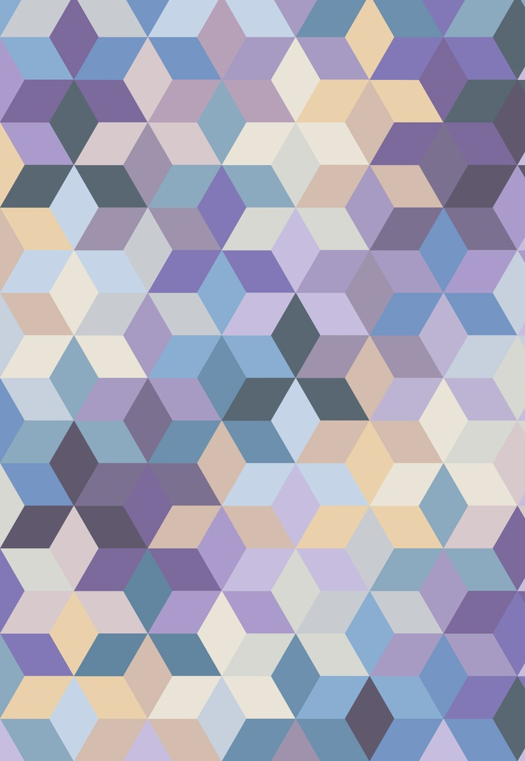 Purple, blue, yellow pattern © Fernando Augusto