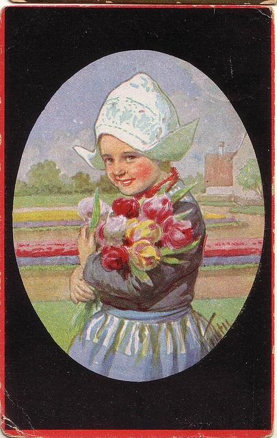 volendammermeisje tulpen 1928