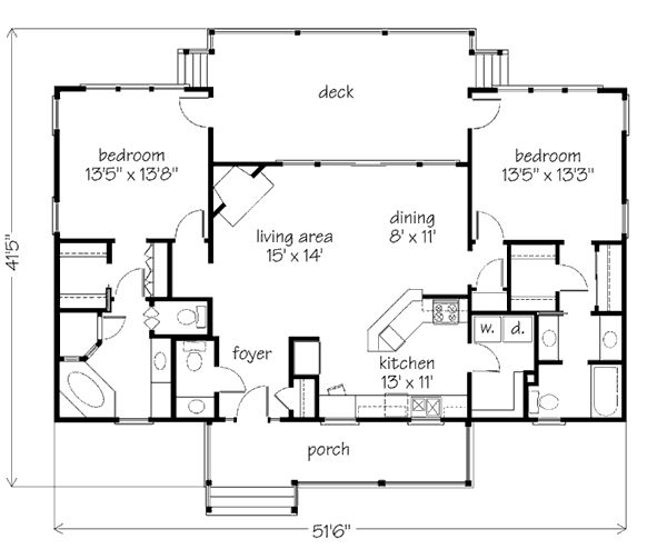 Best 25 2 bedroom house plans ideas that you will like on for 2 bedroom lake house plans