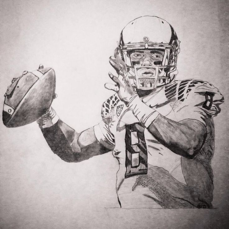 Marcus Mariota Drawing Oregon Ducks Football Oregon