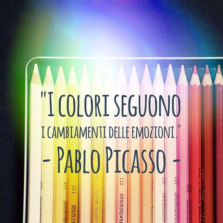 I colori seguono i cambiamenti delle emozioni. - Pablo Picasso  #cit #citazione #quote #colori #emozioni #pablopicasso