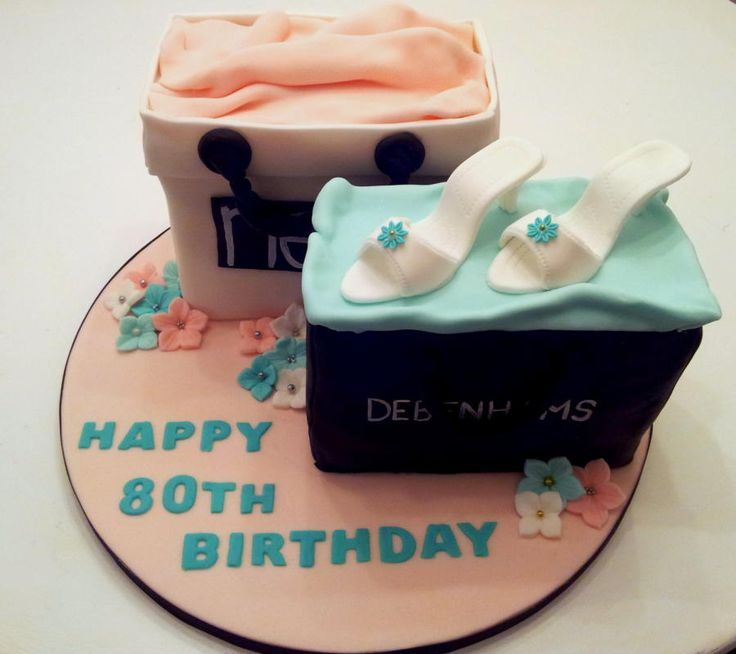Lemon sponge Next bag & Chocolate sponge Debenhams bag for a lady that's 80 years young :o)