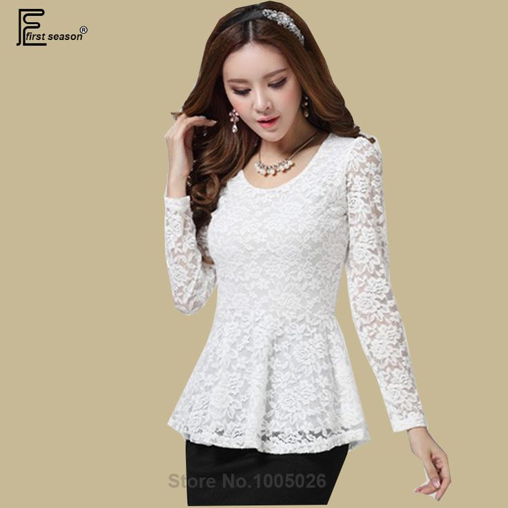 Cheap blouse red, Buy Quality blouse patterns directly from China blouses girls Suppliers:           2016 Spring Fall Fashion New Arrival Women Slim White Crochet Lace Blouse Long Sleeve Elegant Shir