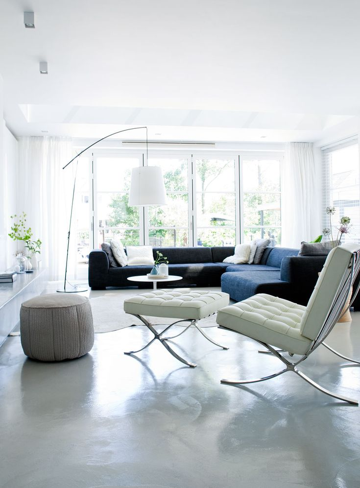 a room for Entertaining, casual comfort with simple lines, lovely cool  colour palette Love this!
