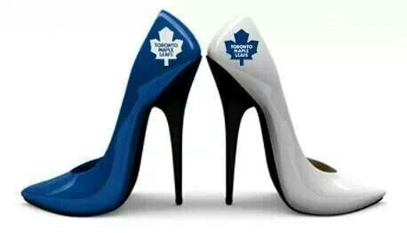 Toronto Maple Leafs heels!! Oh mylanta these babies will be mine! LOVE! :D