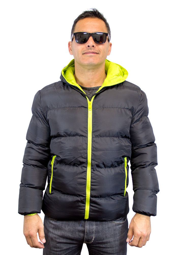 Unisex Puffer Jacket   Black with green lining   $59.99 (NZD)   boodlesbuys