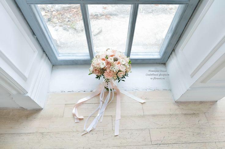Букет невесты с гвоздиками и пионовидными розами. Флорист Пашкова Ольга #букет #невесты #свадебный #bouqet #гвоздики