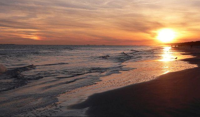 Fall sunset at Manzanita Beach