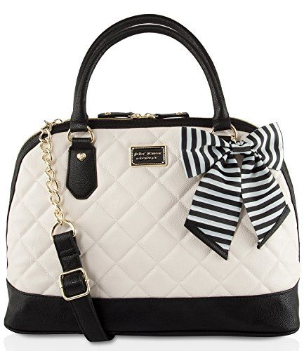 Betsey Johnson Large Quilted Dome Satchel Handbag