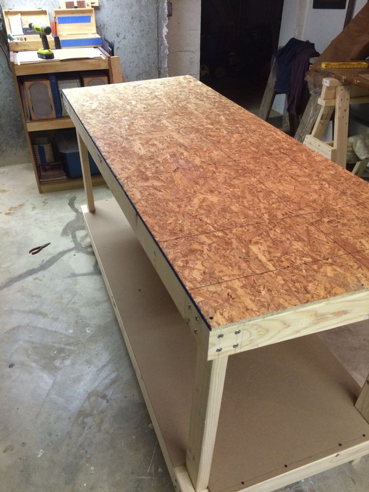 Osb Board Substrate Workshop Workbench Pinterest Osb