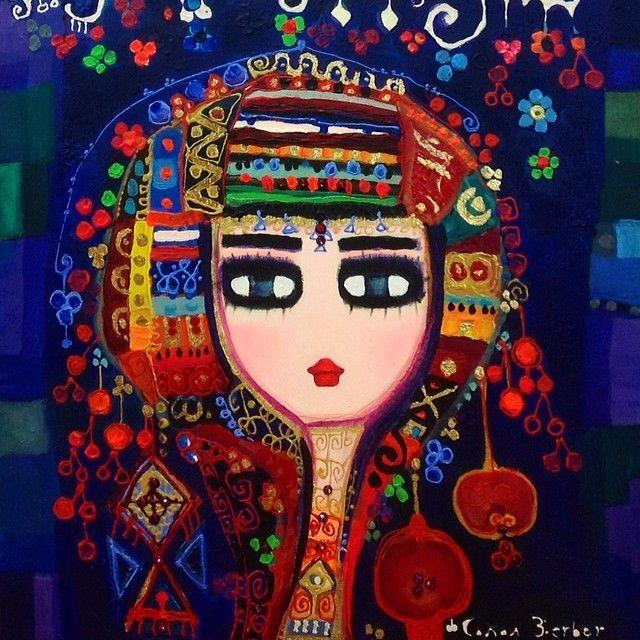 Karşınızda rüya gibi, boncuk boncuk kadınlar. Ressam Canan Berber'in tüm dünyanın peşinde koştuğu o muhteşem kadınları...