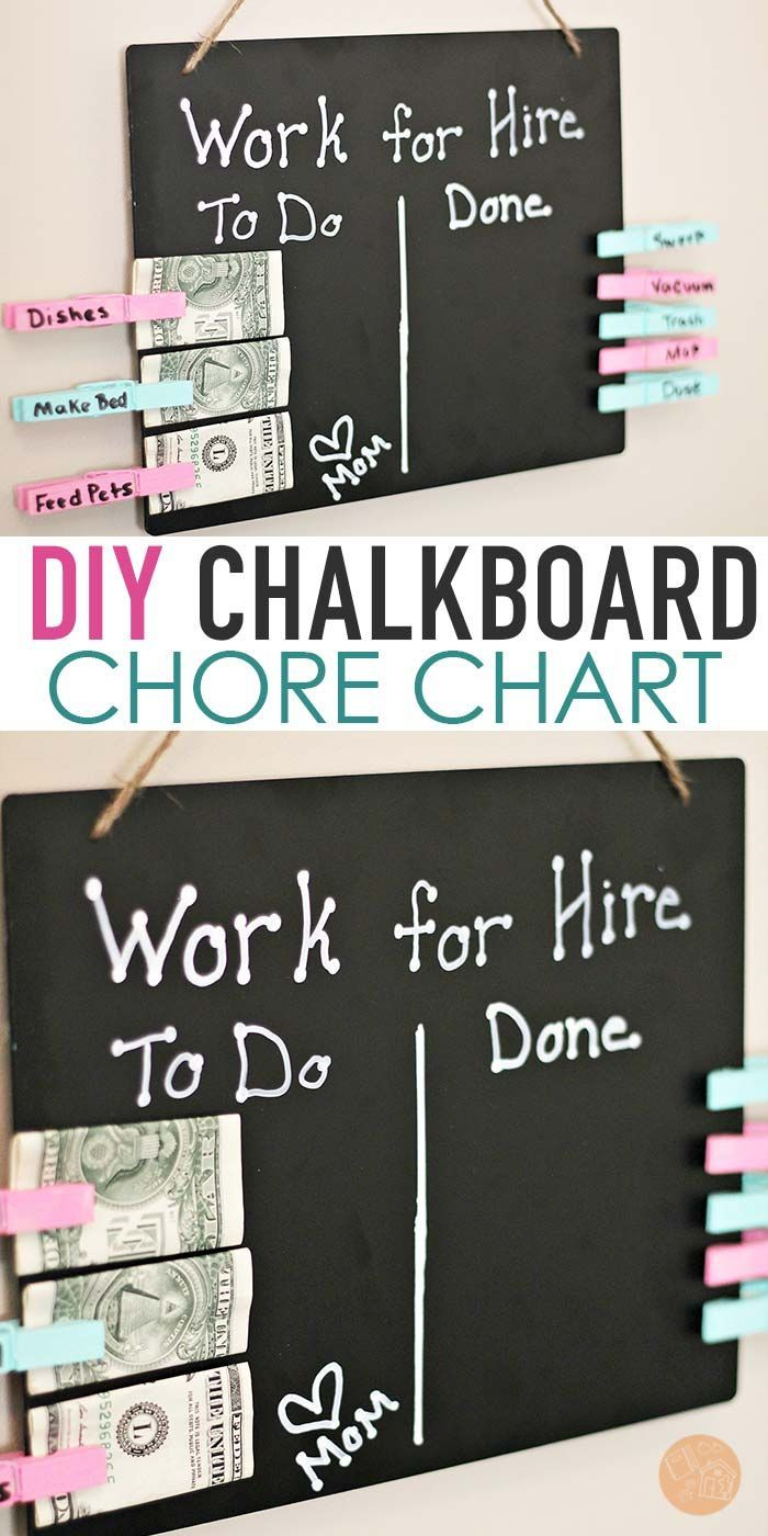 Help Kids Earn Money For Chores With A Super Easy Diy Chore Chart
