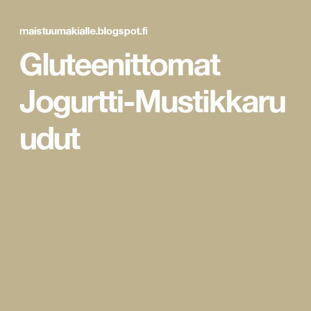 Gluteenittomat Jogurtti-Mustikkaruudut