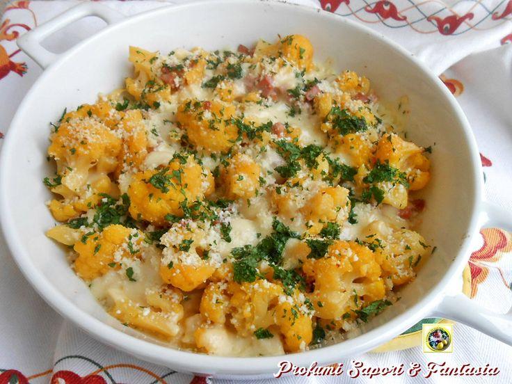 Cavolfiore al forno con prosciutto e formaggi  Blog Profumi Sapori & Fantasia