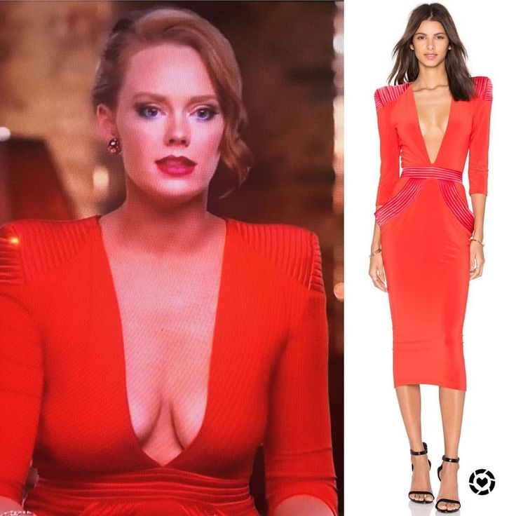 """146 Likes, 6 Comments - BigBlondeHair.com (@realitystarstyle) on Instagram: """"Get the scoop on Kathryn Dennis' plunging red interview dress and shop similar in stock styles with…"""""""