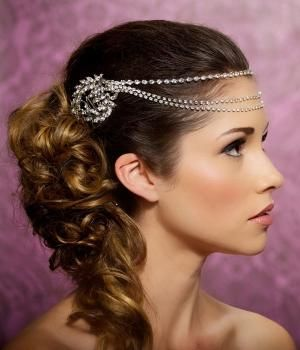 Rhinestone Headband $108.00 via GildedyShadows @ Etsy. by cherry