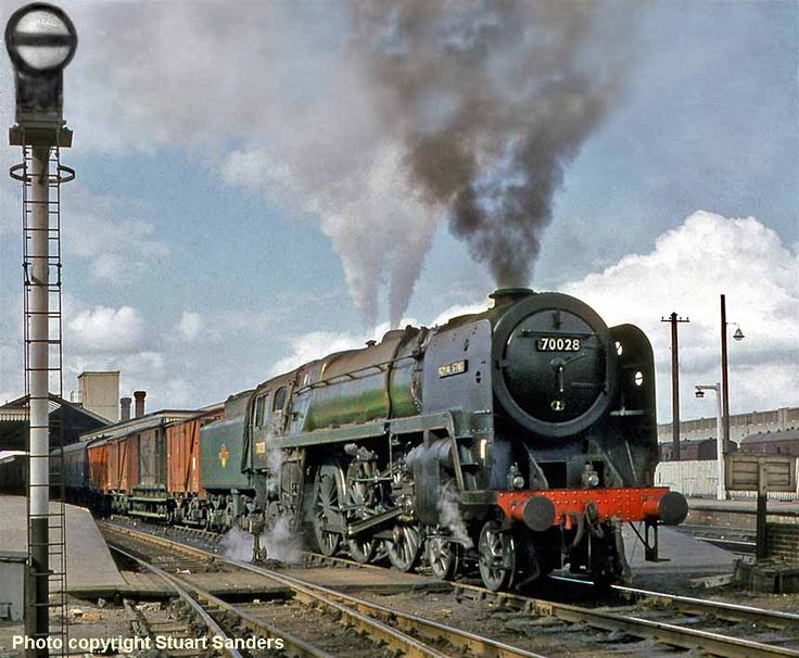 Rare colour picture of Royal Star 70028, looking clean a d presentable despite being on freight duty, Britannia class locomotive
