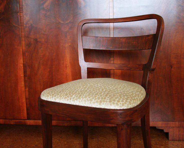 Custom made seats for set of 3 Thonet chairs.  By Full Size Interior.