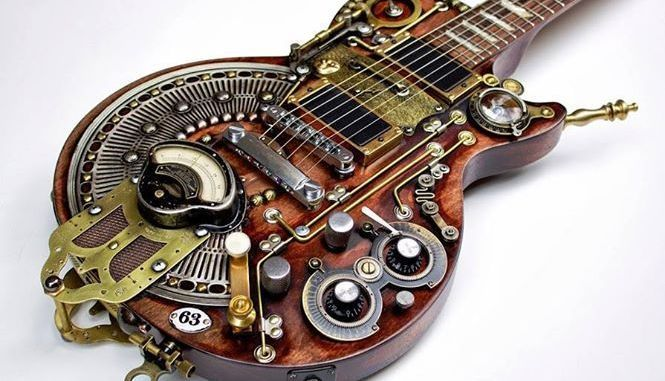 Guitar Gadgets 20 References To Toys We Call Coolest Guitar Gadgets A Little Something For Everyone Guitar Gadgets Steampunk Guitar Cool Guitar