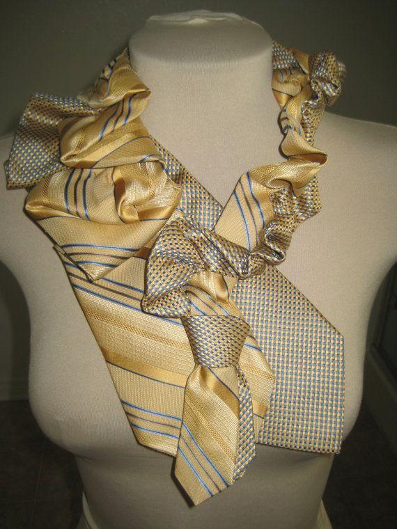 Cousu à la main collier cravate Vintage - LIMONADE