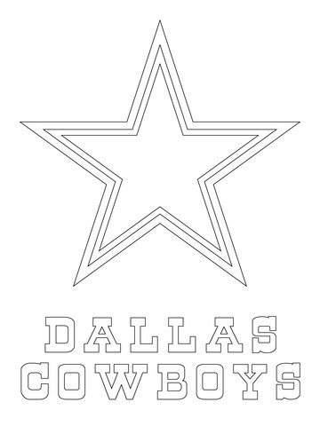 Dallas Cowboys Logo Coloring page from NFL category. Select from 20883 printable crafts of cartoons, nature, animals, Bible and many more.