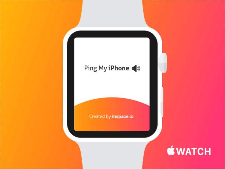 Ping My iPhone - Apple Watch by Arkadiusz Płatek