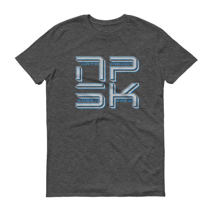 NPSK Grey Logo Men's Anvil T-shirt - Nate Provost Sober Krew Collection