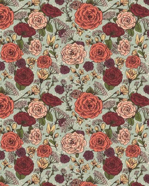 фон, цветы, гранж, инди, красный, винтаж, обои для рабочего стола