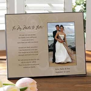 """This To My Parents Personalized Wedding Frame is beautiful! It comes in 3 different colors and it has the sweetest  message on it! Great """"thank you"""" gift idea for the mother and father of the bride and groom after the wedding! It's only $28.95 at PMall and they personalize it with your name and wedding date for free! #WeddingThank You Gift, Parents Gift, Brides Grooms, Wedding Gift, Personalized Wedding, Gift Ideas, Pictures Gift, Parents Personalized, Wedding Pictures Frames"""