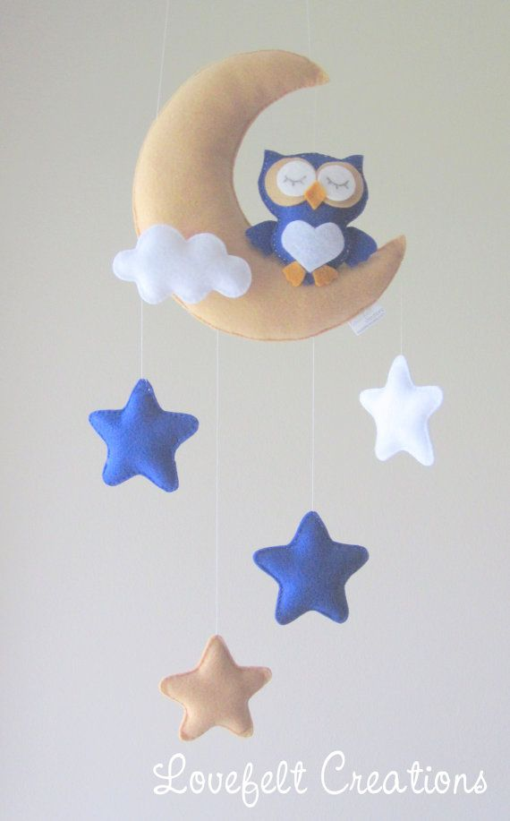 READY TO SHIP Baby mobile Owl mobile Crib by LoveFeltXoXo