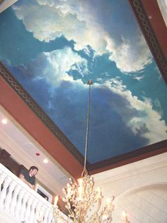 Best 25 cloud ceiling ideas only on pinterest ceiling for Ceiling mural clouds