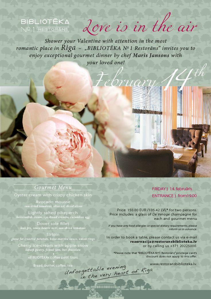 BIBLIOTĒKA N°1 Restorāns / 14 FEBRUARY / Biblioteka restorans / Celebrate / Restaurant / vine from Italy / delicious food / head chef Maris Jansons / Sommelier Janis Gailis / Banquets / Riga, Latvia
