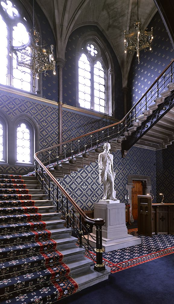Staircase, George Gilbert Scott Building, Glasgow University. Nimmo & Partners....Image©David Cadzow