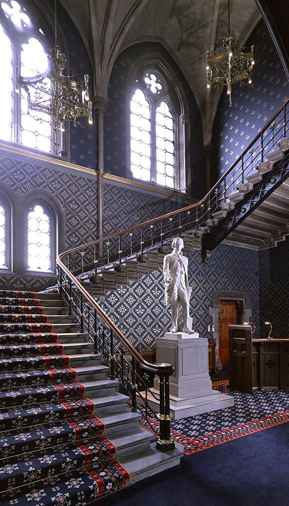 Staircase, George Gilbert Scott Building, Glasgow University. Nimmo & Partners....Image©David Cadzow