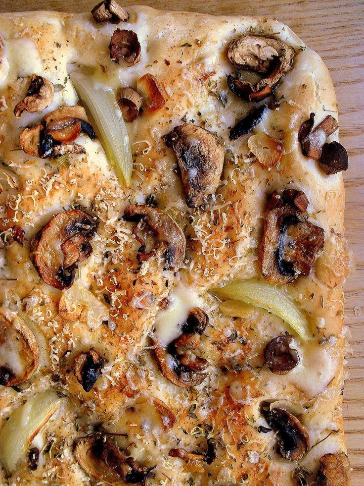 Lekcje w kuchni: Focaccia z pieczarkami / Mushroom Focaccia