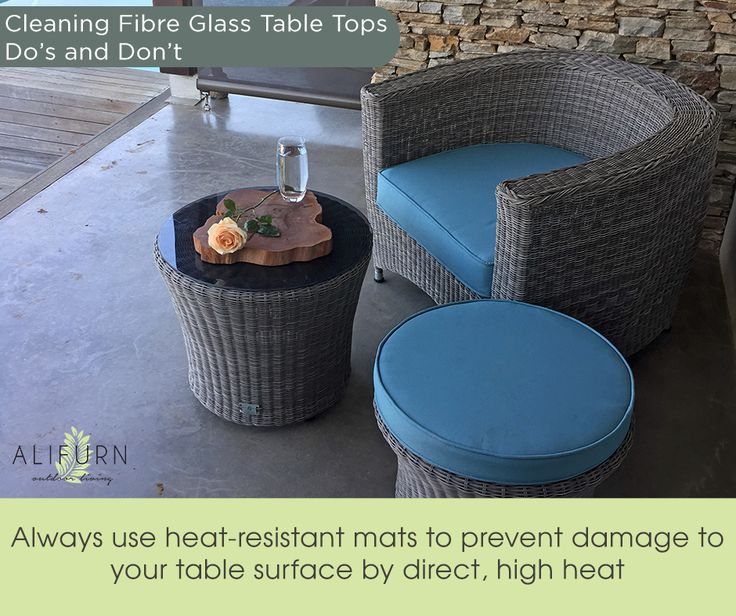 Prevent heat-related damage to your Alifurn table top! #OutdoorFurniture #PimpMyPatio #TopTables