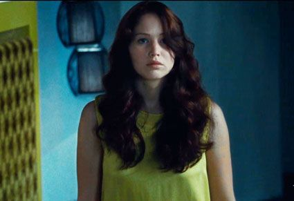 Katniss' hair in Hunger Games was beautiful! Long, full, curly, pretty brown