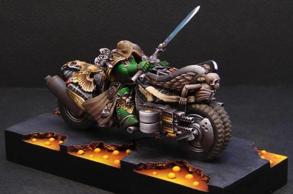Крутой байк Warhammer 40k, моделизм, темные ангелы, Мото, байк, длиннопост